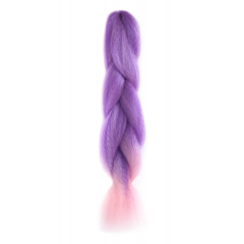 Braiding fibre hair extensions in halloween purple and other colours - Kanekalon Brilliant Jumbo Braid