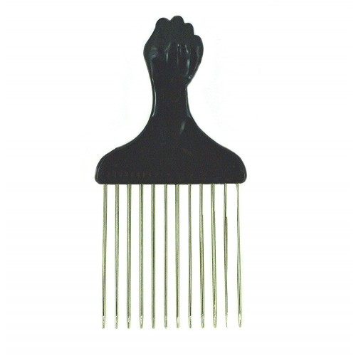 American Dream Small Metal Afro Pick: Fist