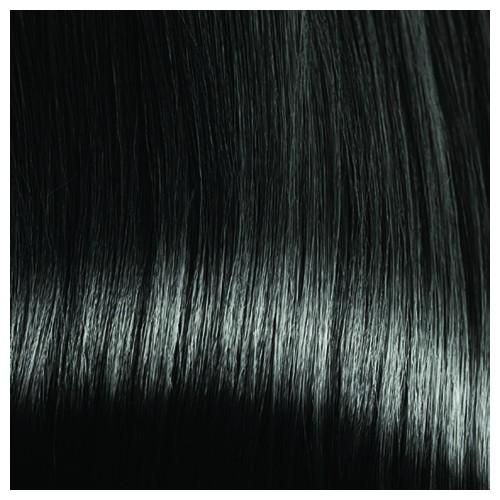 BRIDGET - Premium Fibre Part-Monofilament Wig #Jet Black