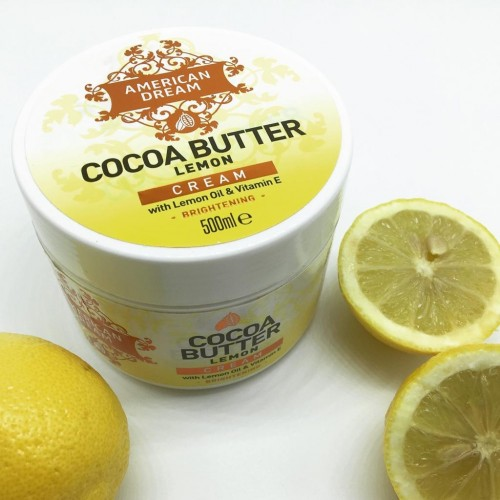 NEW: American Dream Cocoa Butter Cream 500ml with LEMON