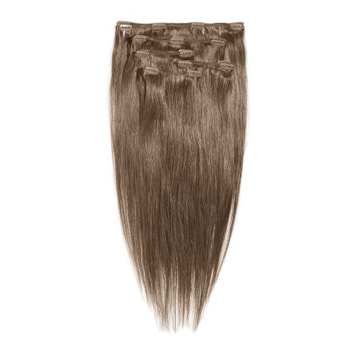 Clip-in hair extensions - made of fibre - full head set