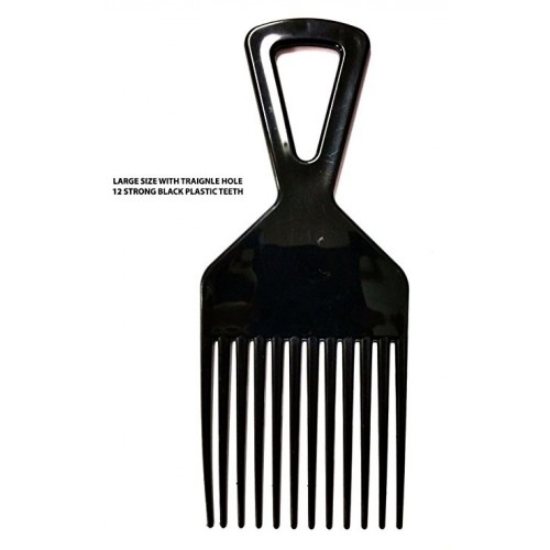 American Dream Medium Plastic Afro Pick: Triangle